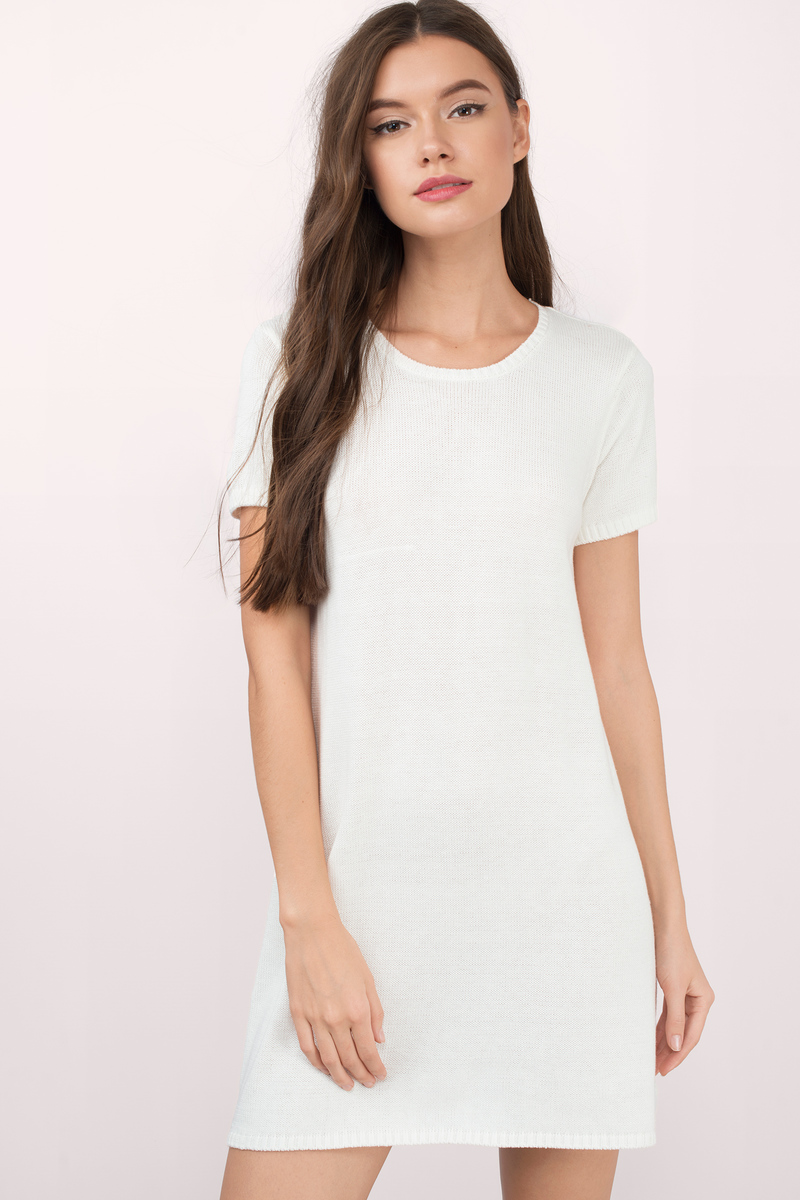 Fran Ivory Tunic Sweater