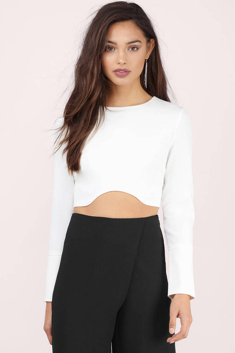 Inside Scoop Ivory Crop Top