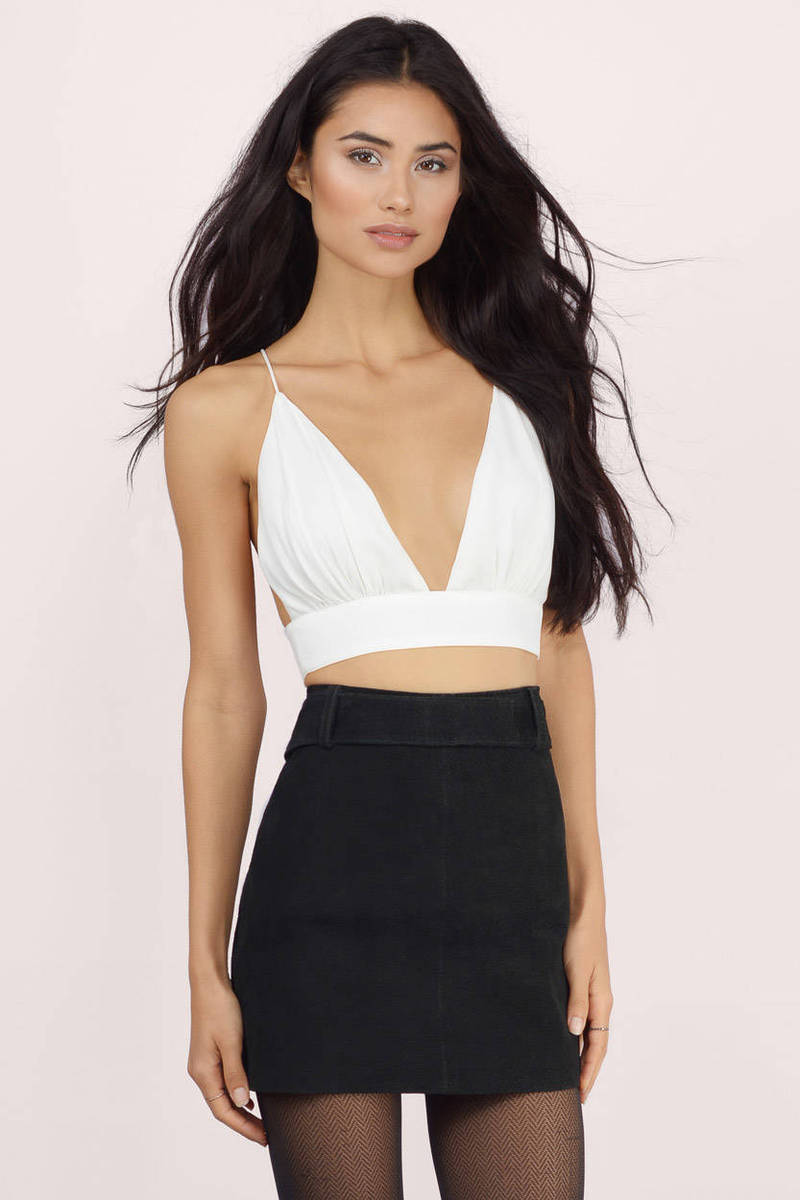 f1572e864f7fc Sexy Ivory Crop Top - White Top - Backless Top - Ivory Crop Top -  5 ...