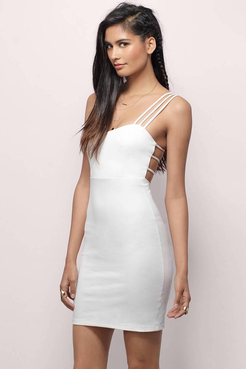 Kenlie Ivory Bodycon Dress