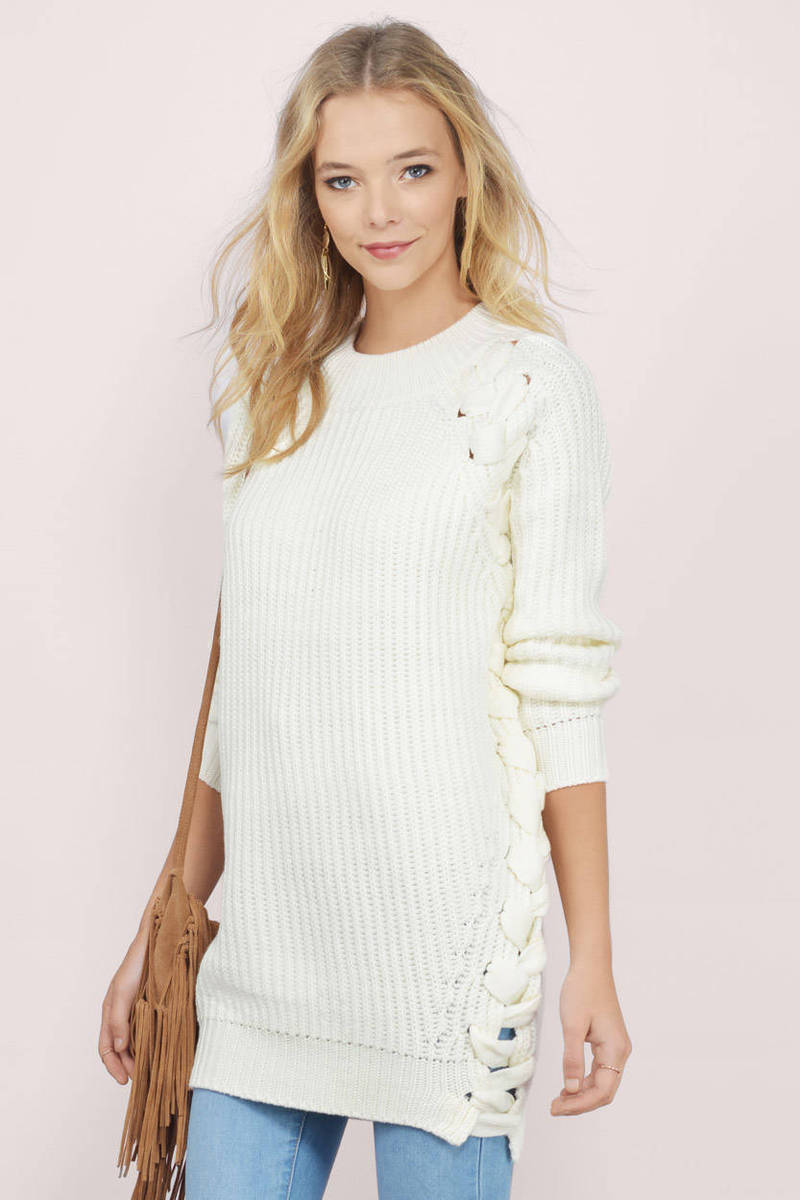 Lace Me In Oversized Sweater