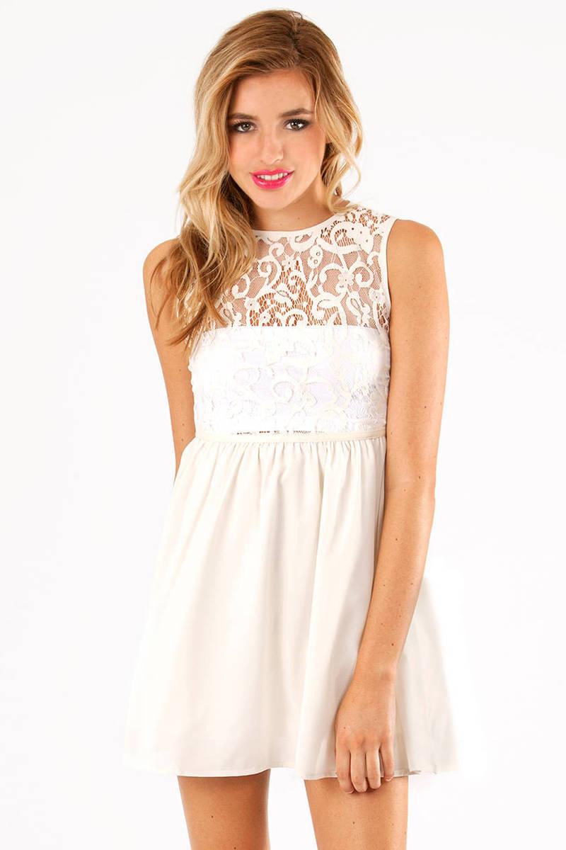 Lace Up Top Dress