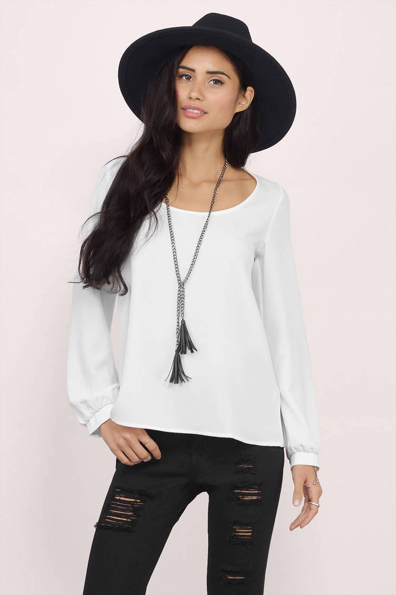 Less Is Amour Ivory Chiffon Blouse