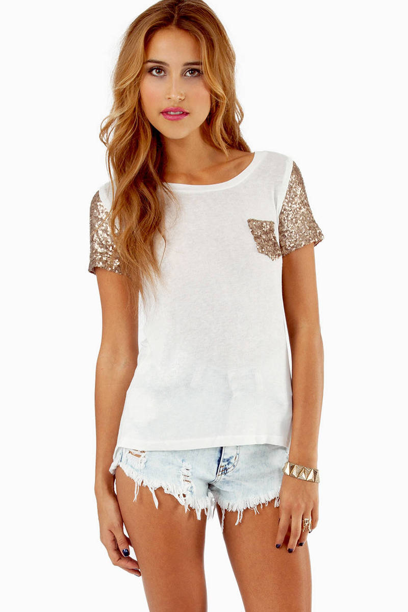 Embellish Me Pocket T-Shirt