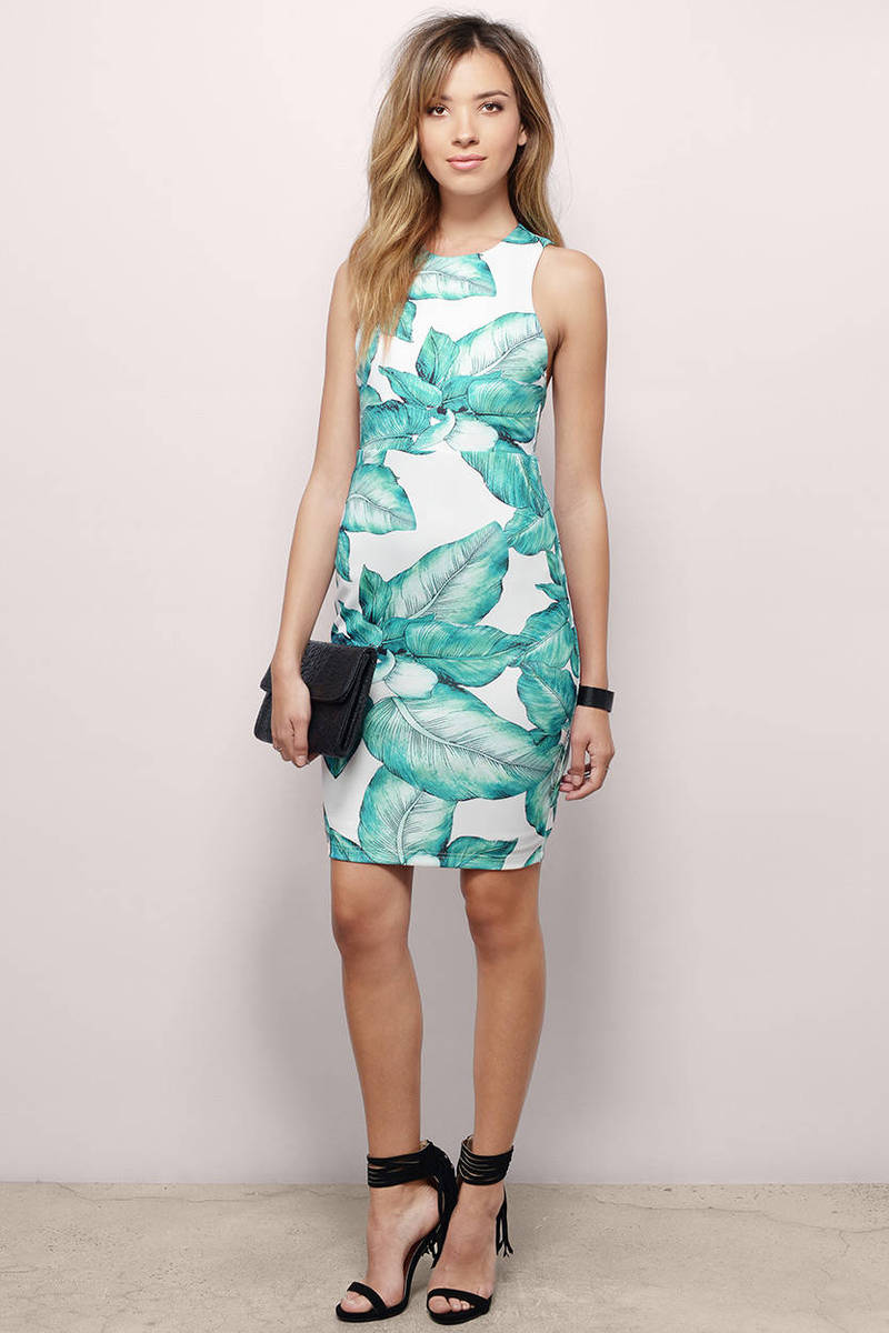 Hawaiian Nights Bodycon Dress