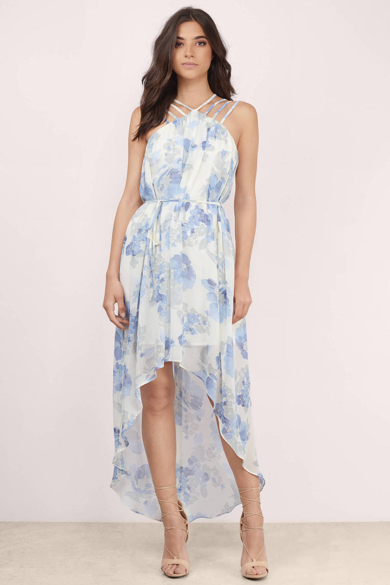 Love Bloom Ivory Multi Floral Maxi Dress