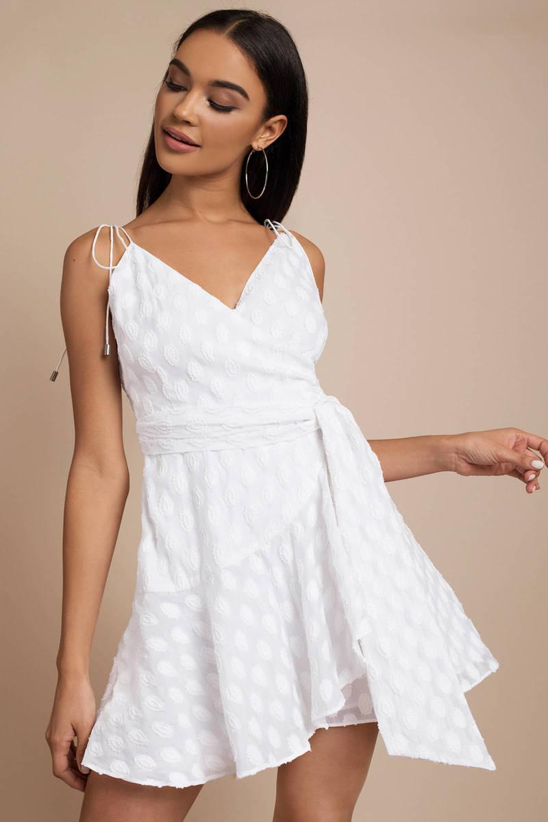 e27db6f56e Pretty White Wrap Dress - Date Dress - Ivory Cami Dress - AU  200 ...