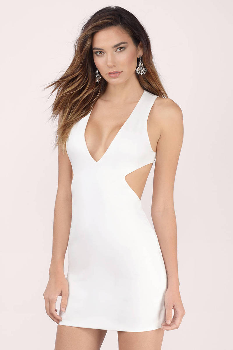 Side By Side Ivory Bodycon Dress