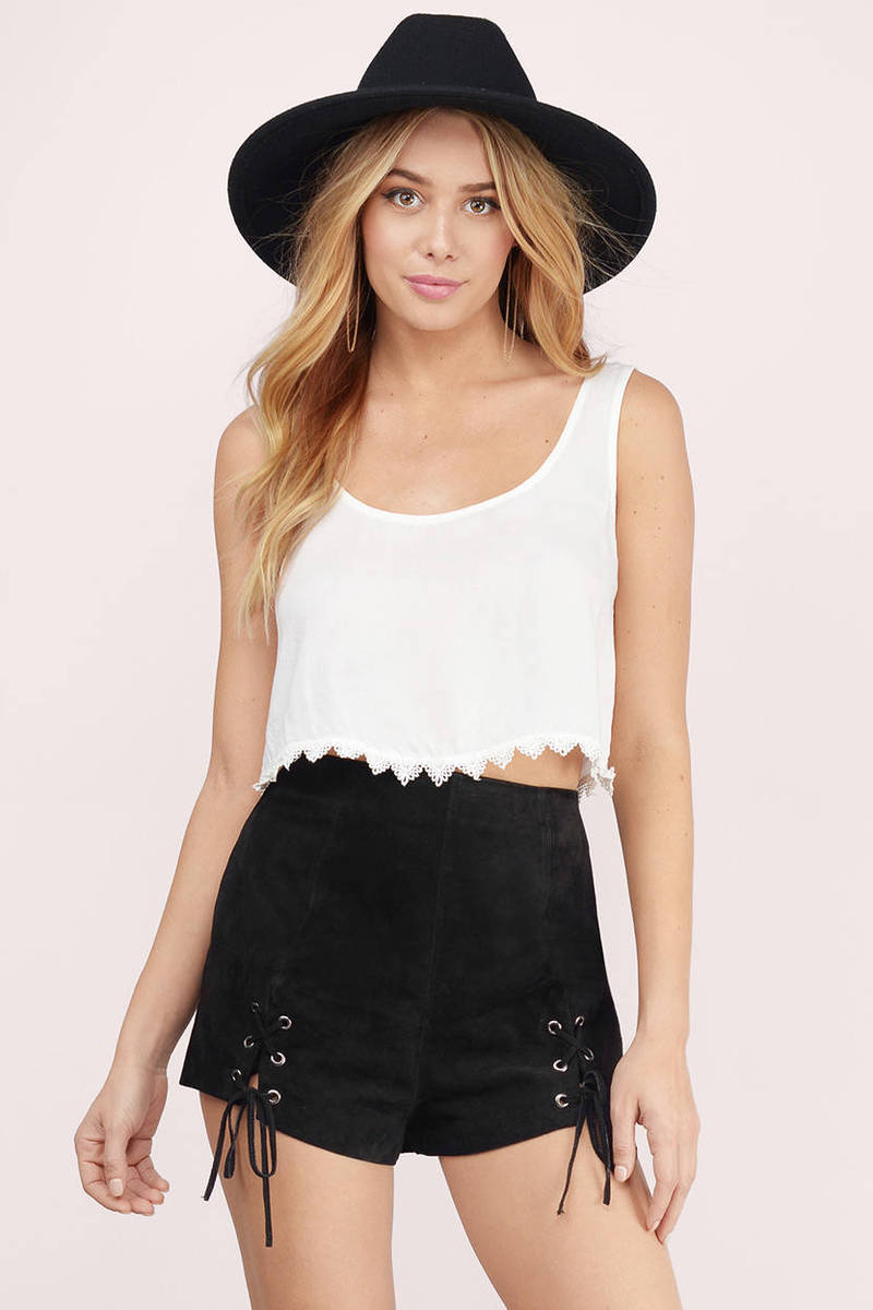 8e6f88c927 Cute Ivory Top - White Top - Scoop Neck Top - Ivory Crop Top - $6 ...