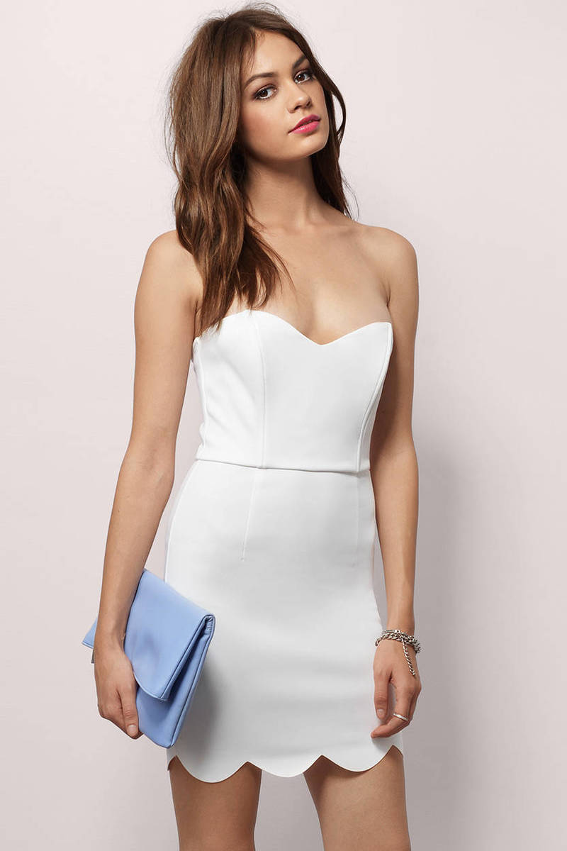 Summer Nights Out Ivory Sweetheart Bodycon Dress