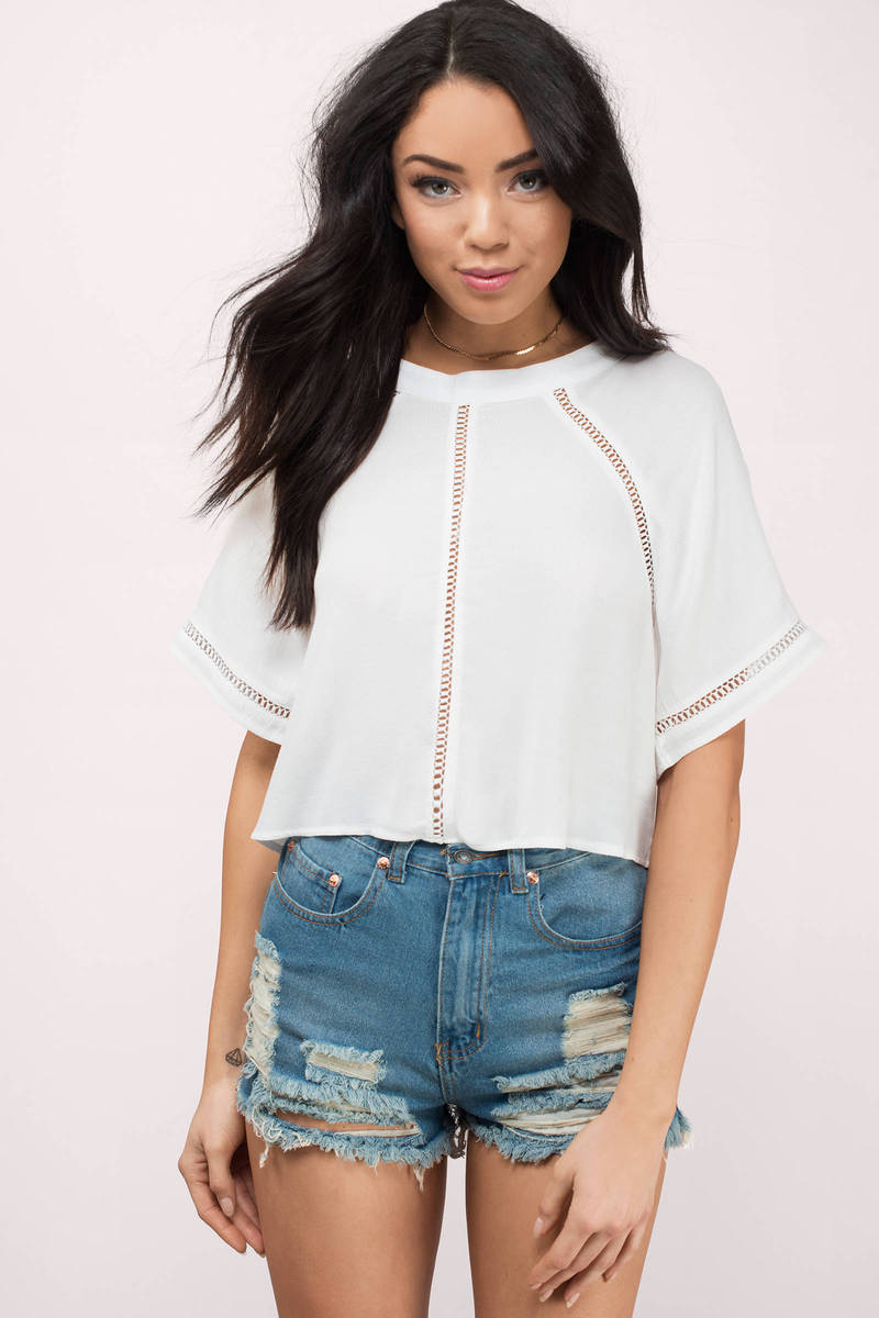 Sweet Escape Ivory Crop Top