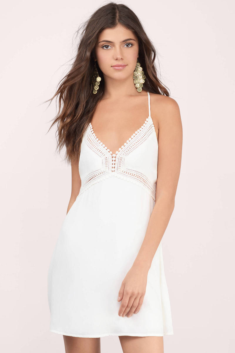 Take Your Time Ivory Embroidered Dress
