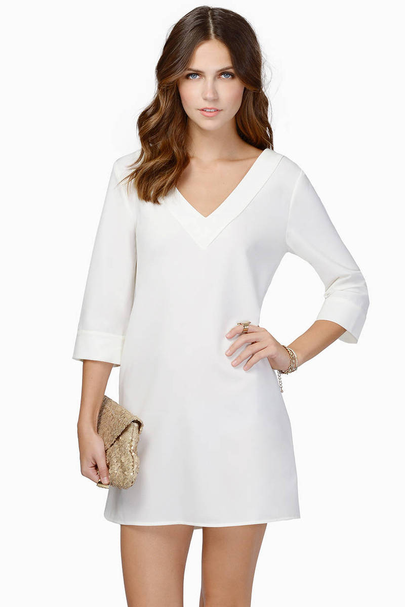 Talk Shop Ivory Shift Dress