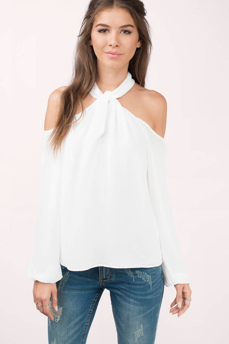 ivory blouse white blouse high neck blouse ivory top. Black Bedroom Furniture Sets. Home Design Ideas