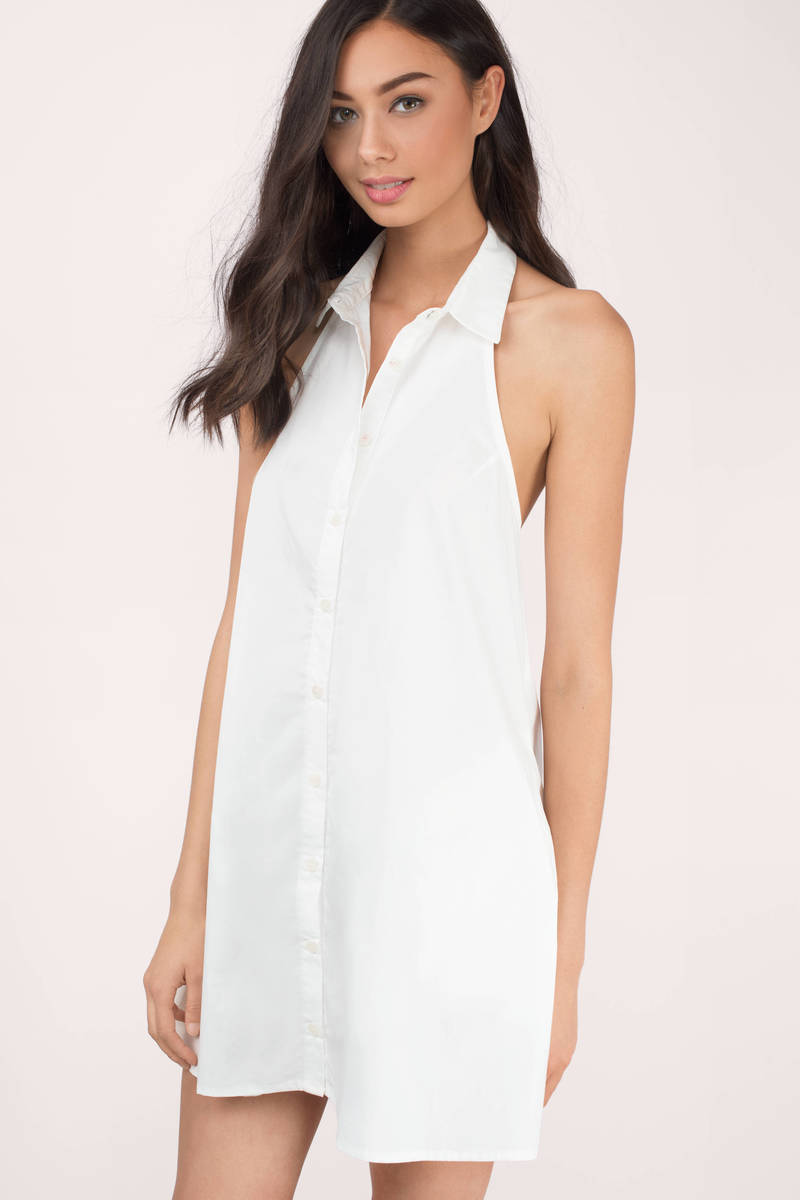 Top Collar Ivory Day Dress