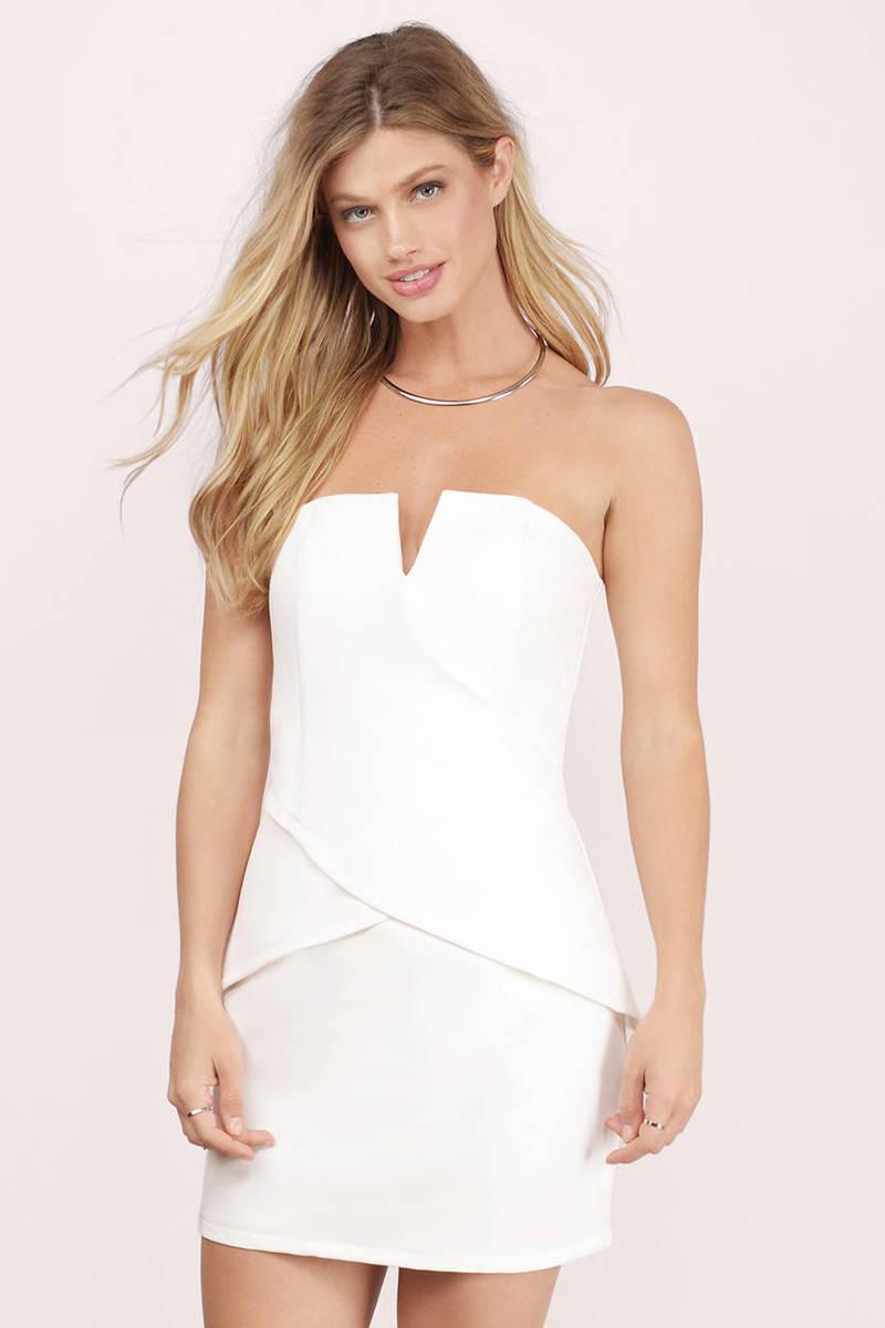 d540f07fa76 Ivory Bodycon Dress - White Dress - Sleeveless Dress - Ivory Bodycon ...