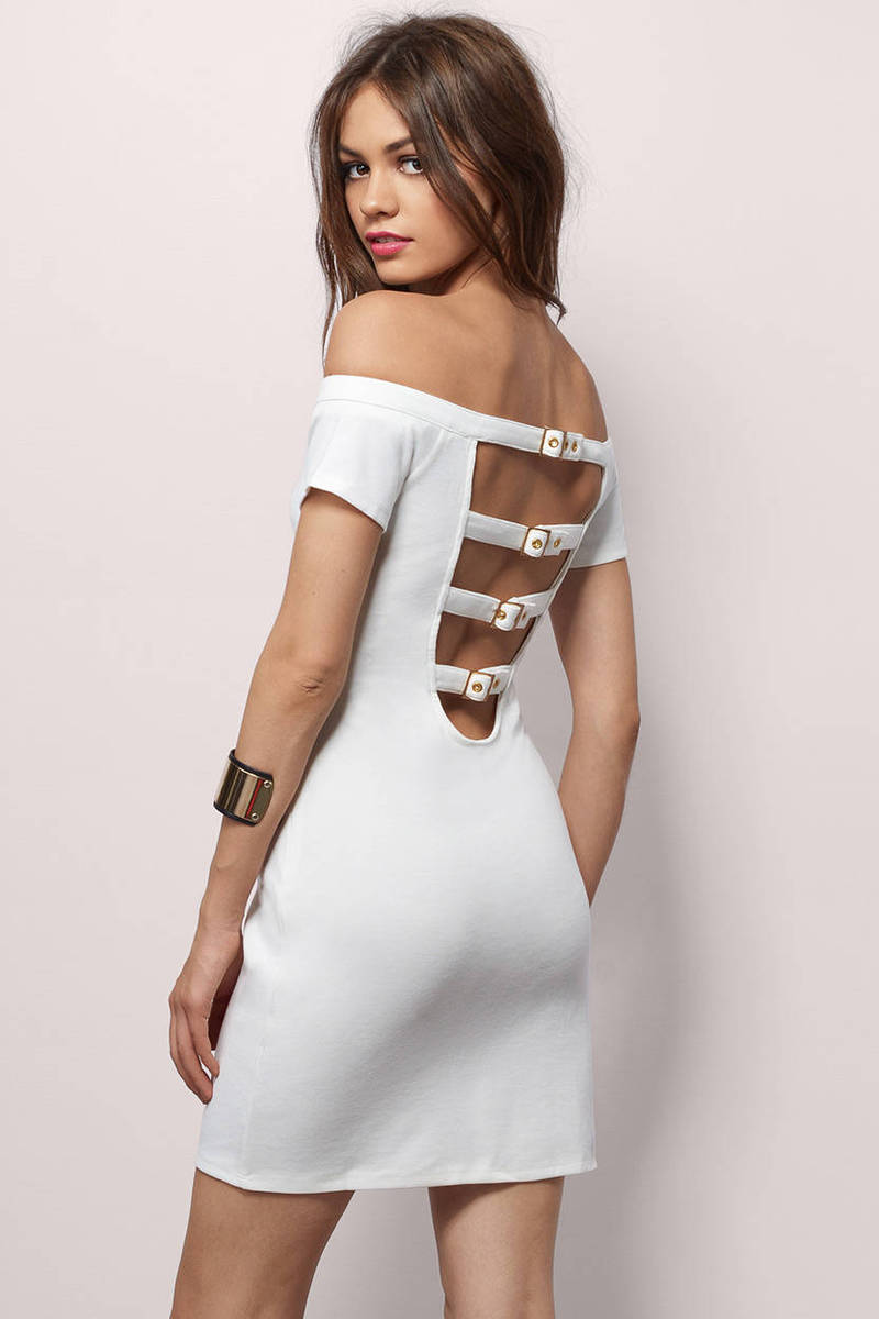 Truly Yours Ivory Bodycon Dress