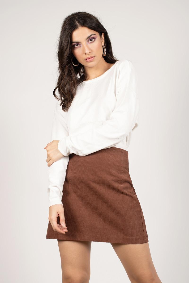 Ivory Sweater - Boat Neck Sweater - Dark White Sweater - $19   Tobi US