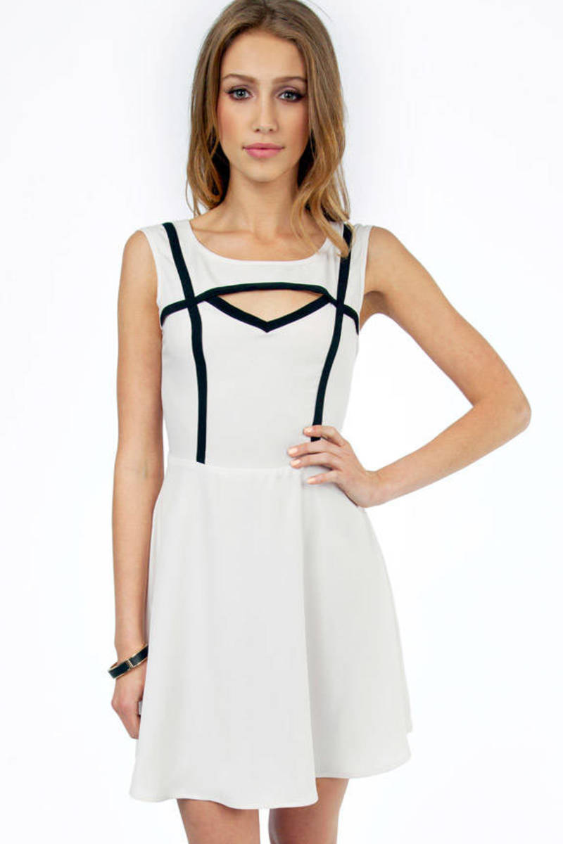 Understated Cutout Trim Dress