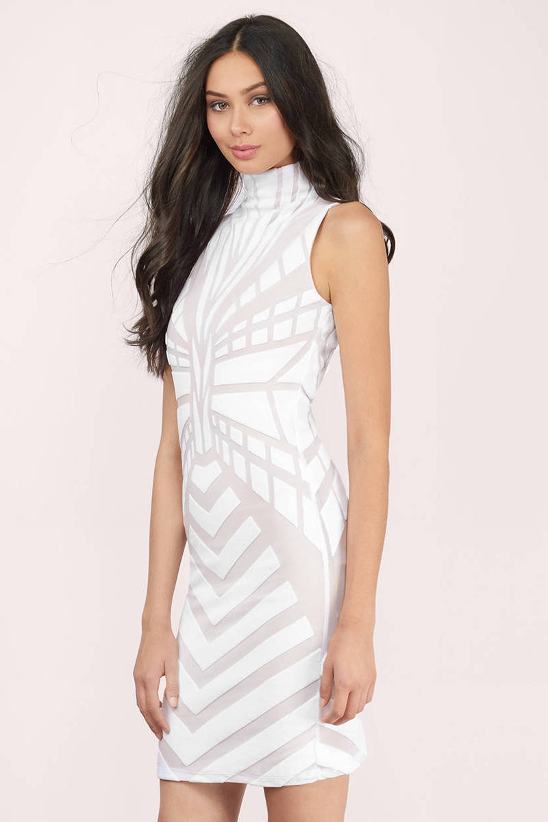 Bless'ed Are the Meek Bless'ed Are The Meek Vista Ivory Knitted Bodycon Dress