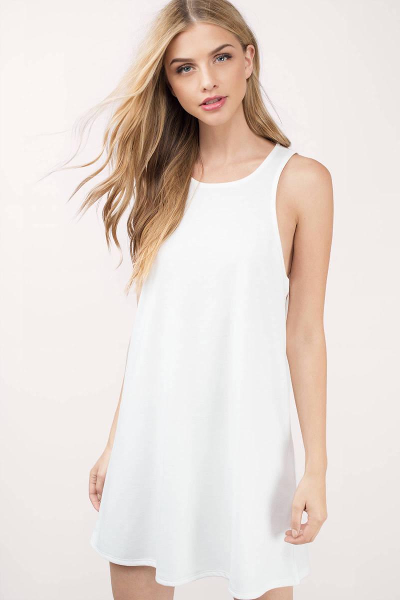 0a916f1bfc9 Cute Ivory Day Dress - Racerback Dress - White Dress - Day Dress ...