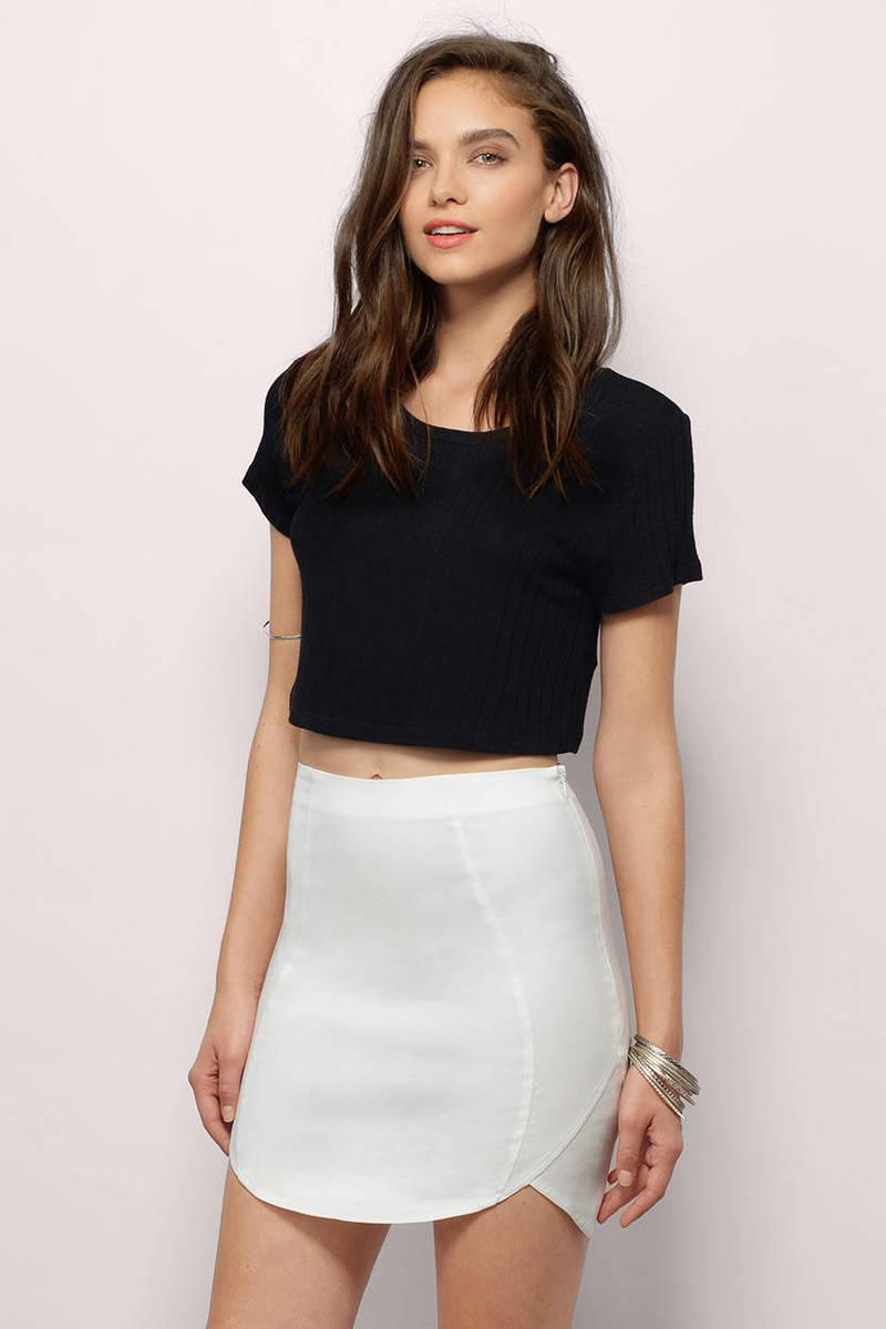 Ivory Skirt - White Skirt - Mini Skirt - $15.00