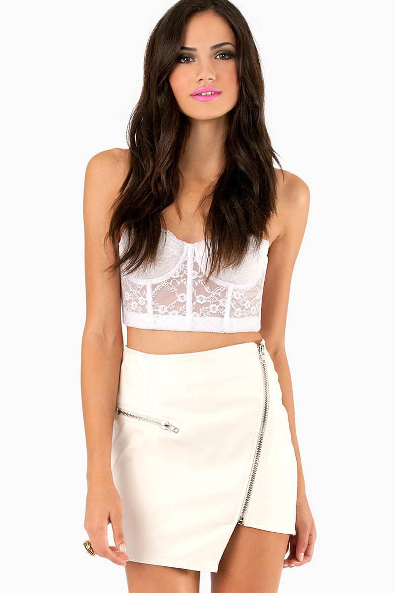 Zipped Hannah Mini Skirt