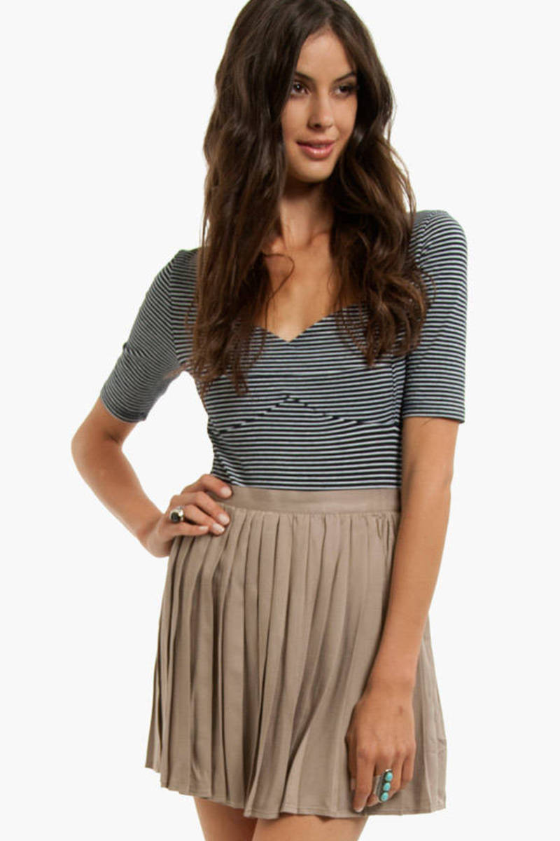 Soft Twill Pleated Skirt