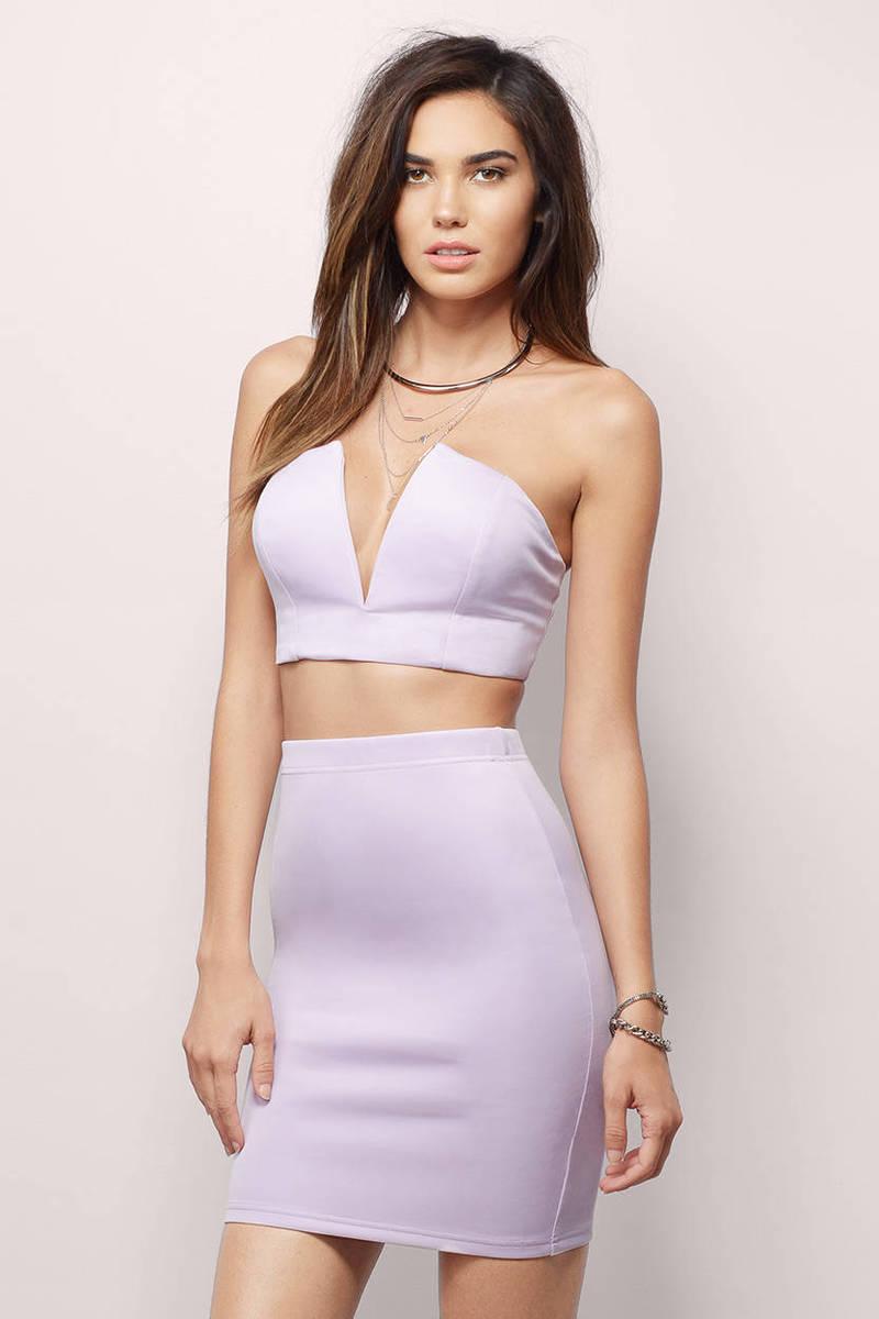 A Smell So Sweet Lavender Bodycon Dress Set