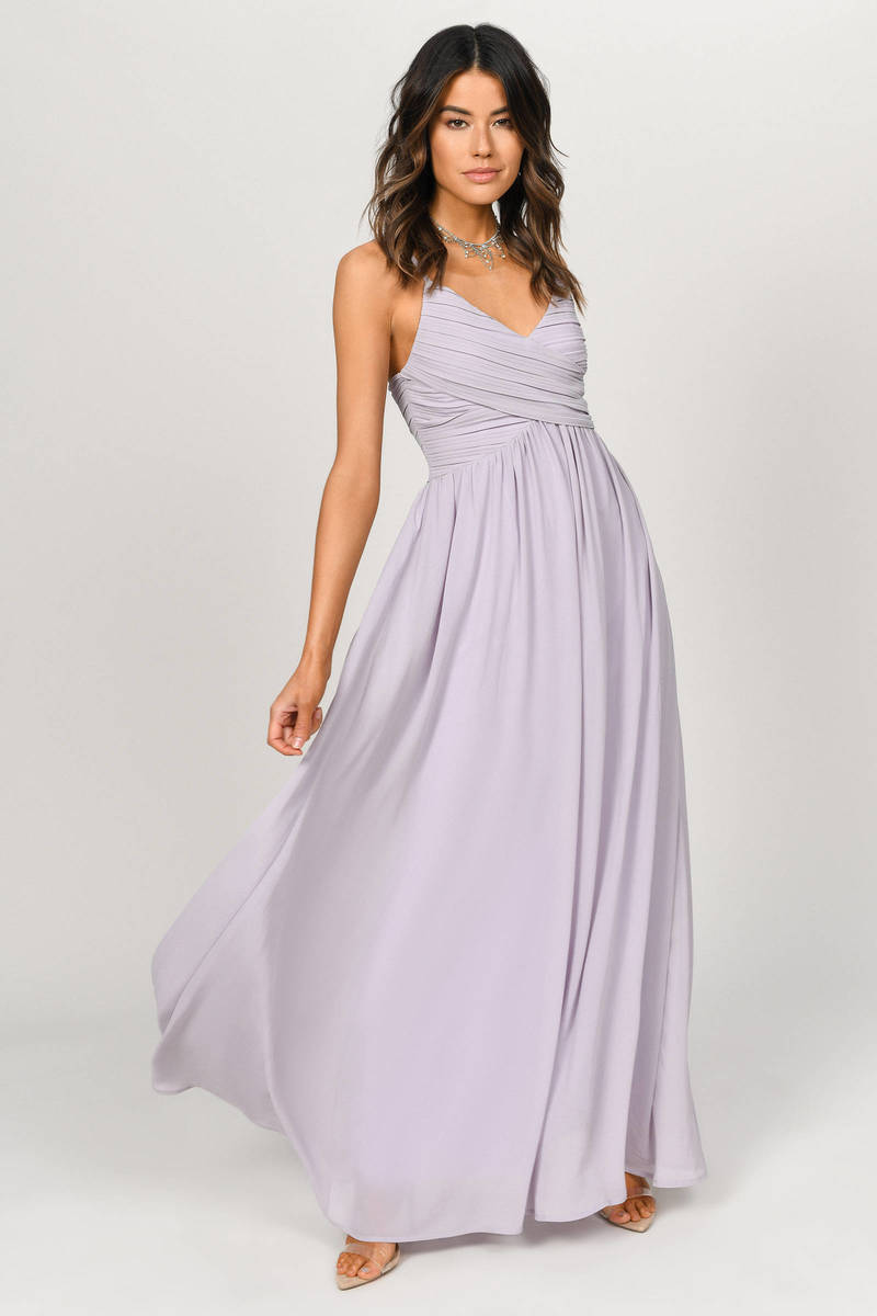 9e6b388fb033 All About Tonight Lavender Maxi Dress - $51 | Tobi US