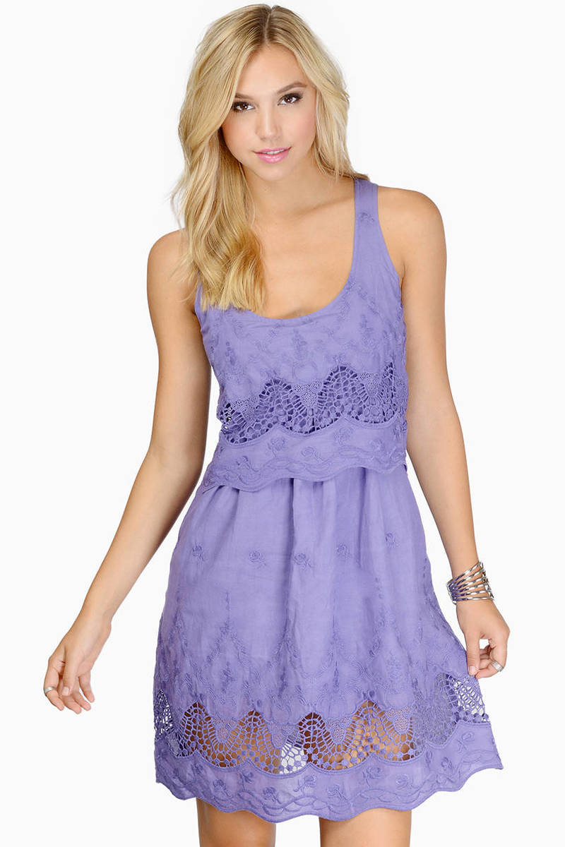 Anyway The Wind Blows Lavender Skater Dress