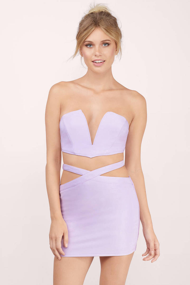 Lavender Bodycon Dress - Lavender Dress Set