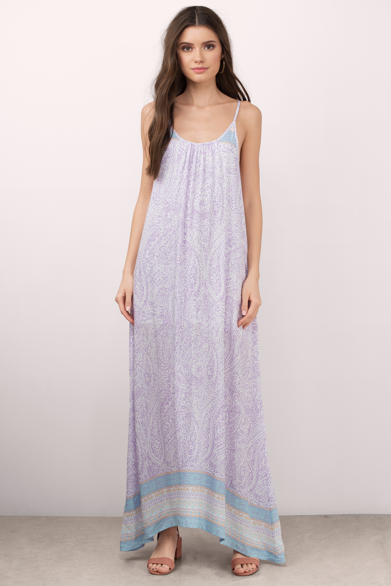 Boho Beauty Navy Paisley Print Maxi Dress