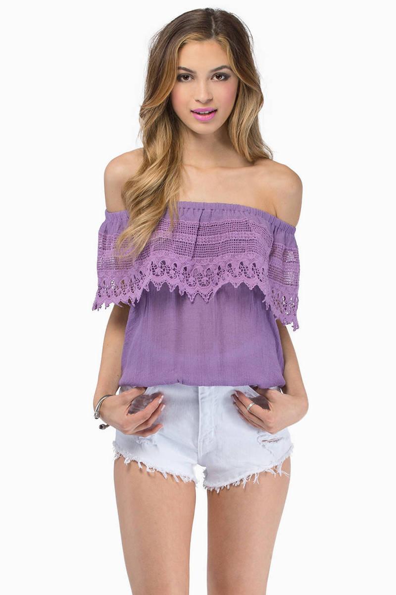 Carrie Lavender Blouse