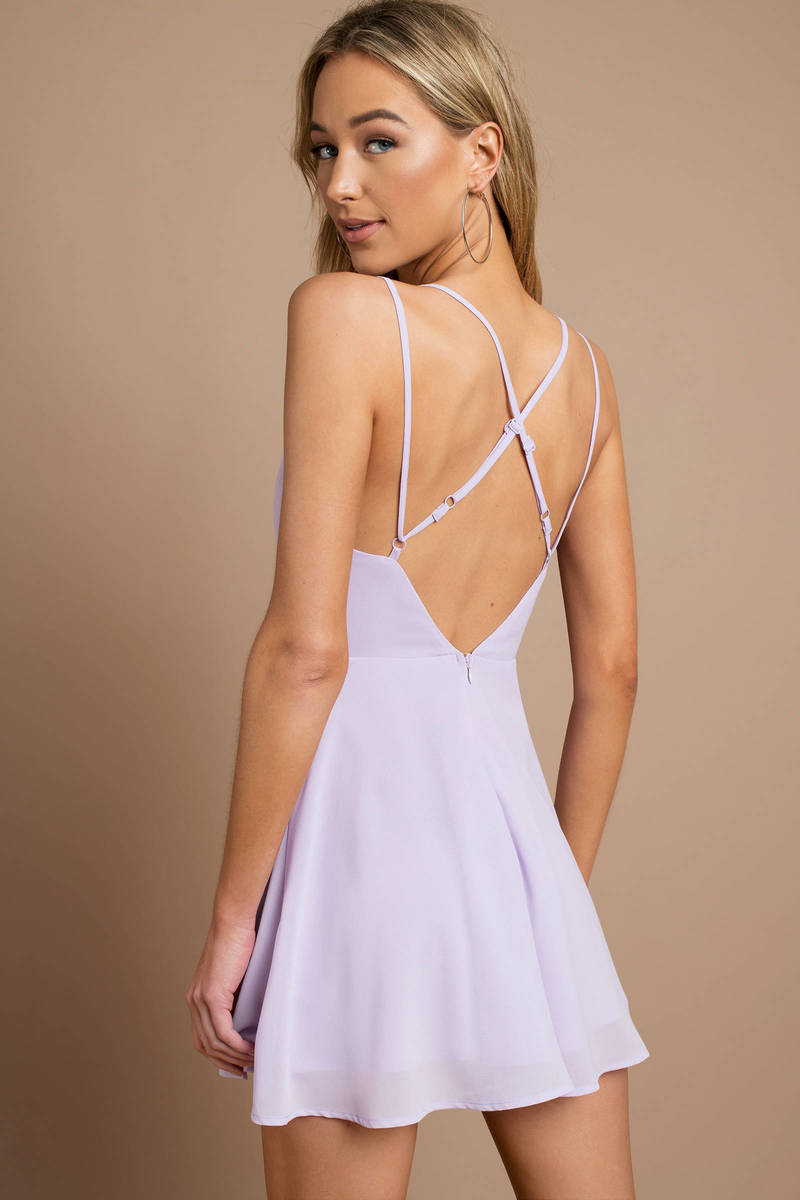 a10de810f9a6 Purple Skater Dress - Bridesmaid Dress - Lavender Cami Dress - $86 ...