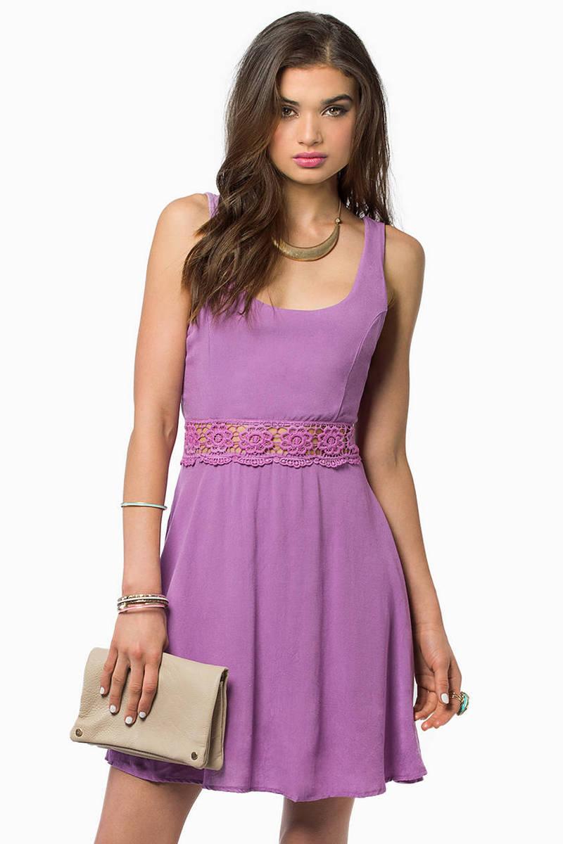 Daisy Crochet Skater Dress