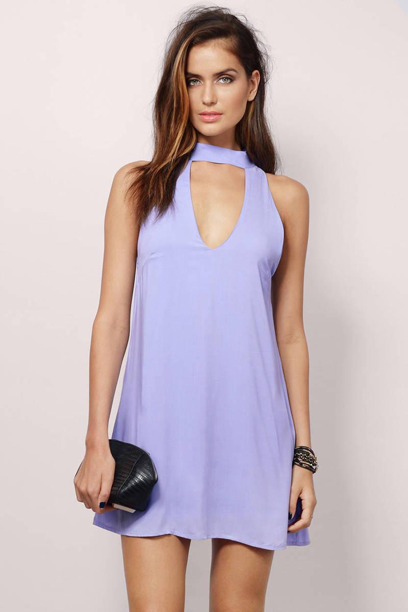 Dancing Night Lavender Shift Dress