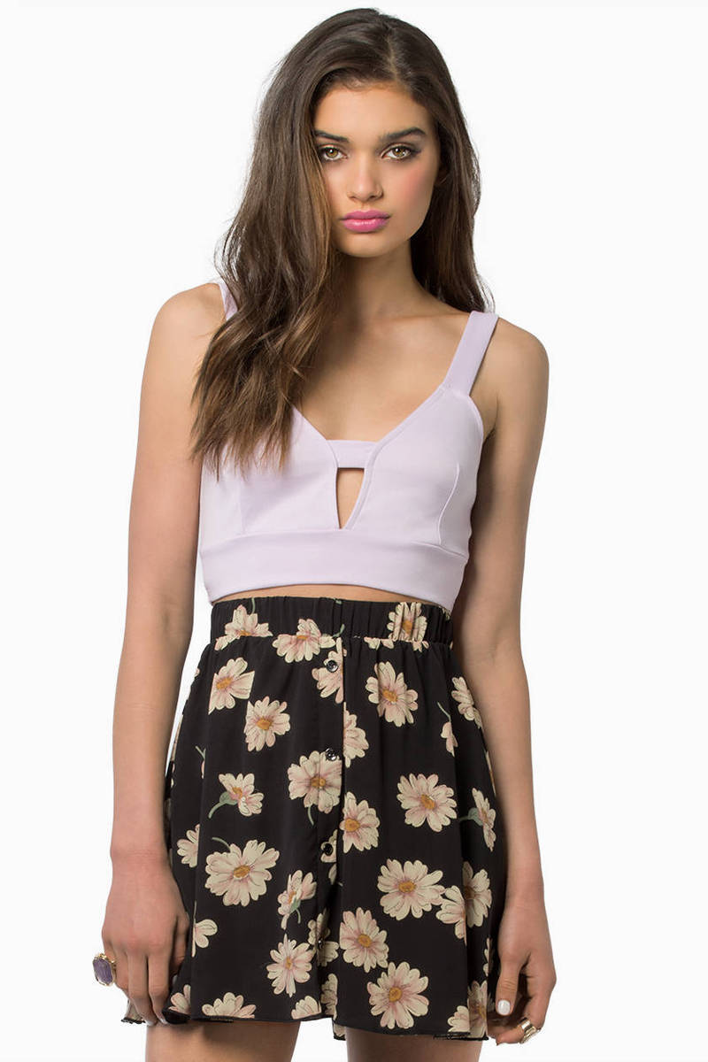 Deep End Lavender Crop Top