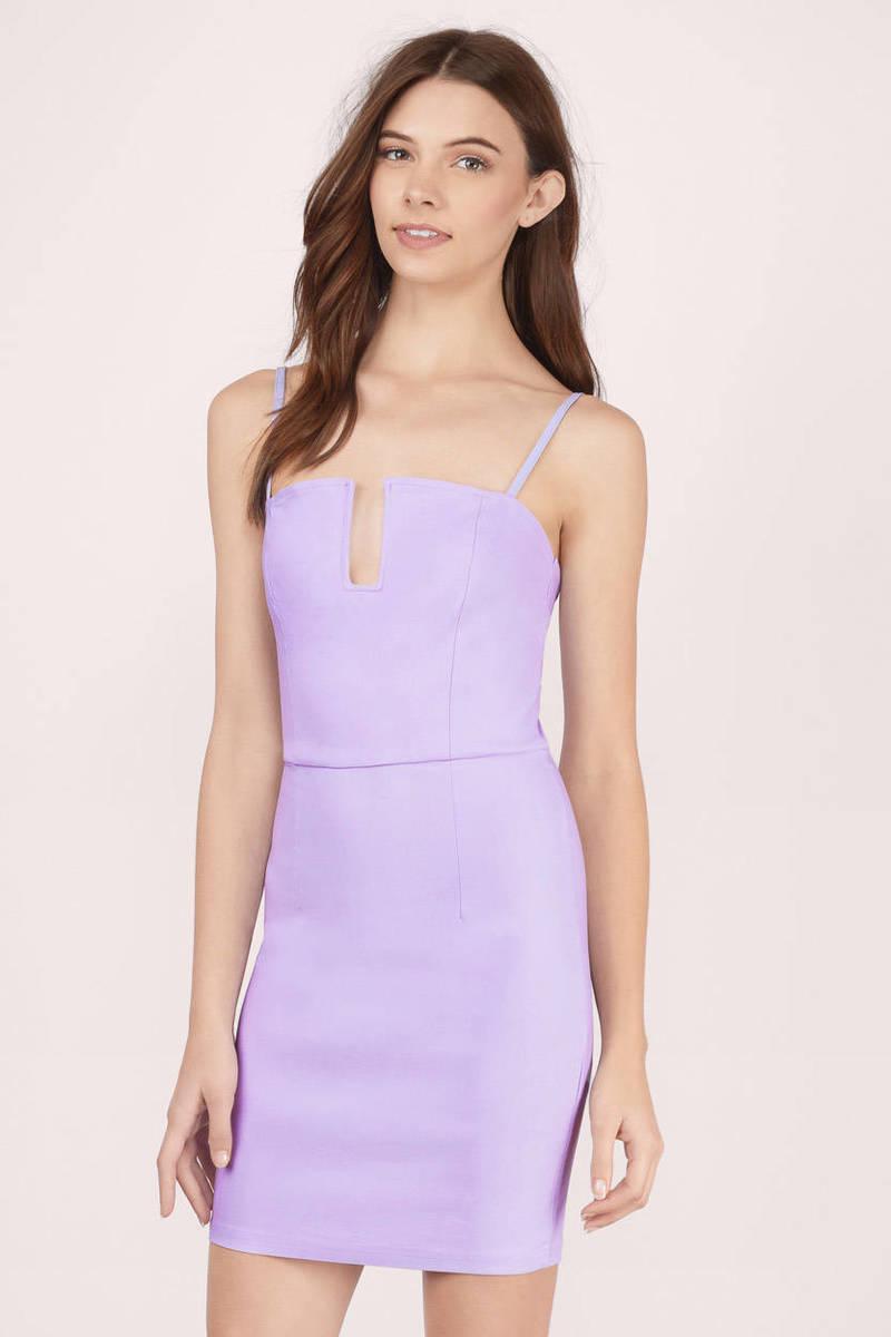 Feelin Flirty Lavender Bodycon Dress