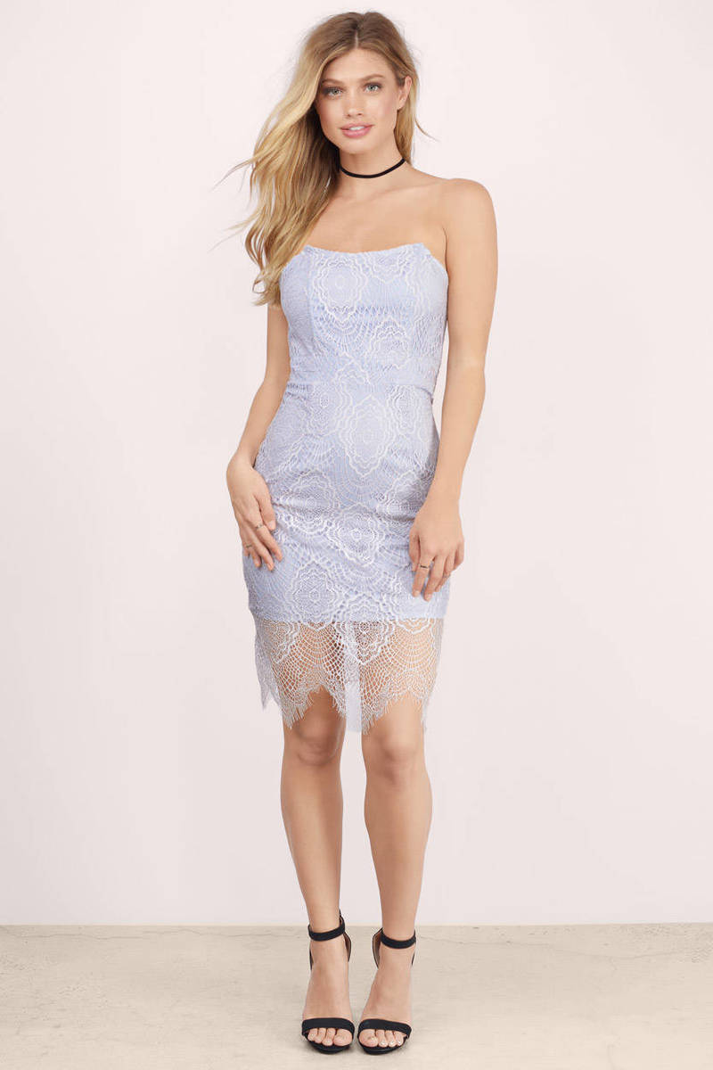 Fool For You Lavender Lace Bodycon Dress