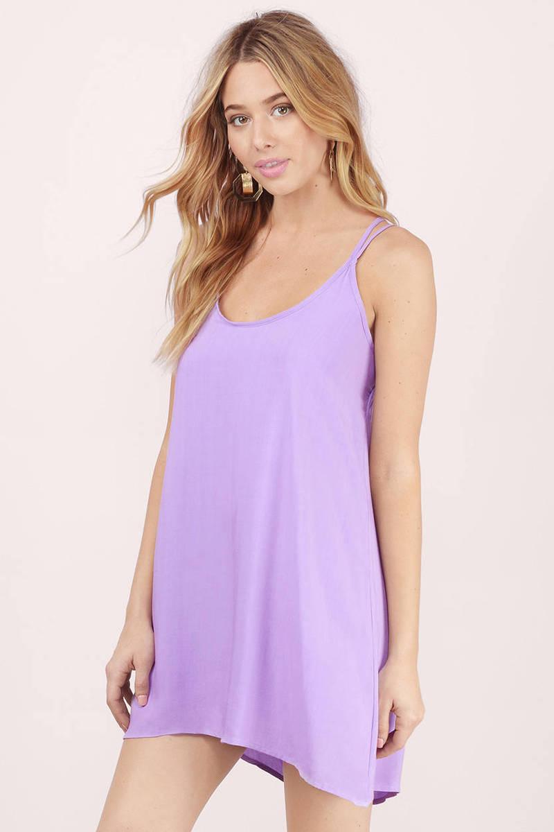 Free Falling Lavender Cami Dress