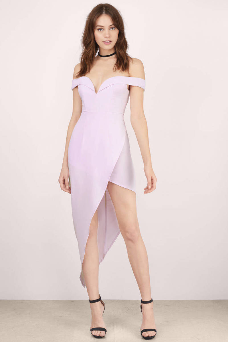 cd902e4693f Sexy Lavender Bodycon Dress - Off Shoulder Dress - Bodycon Dress ...