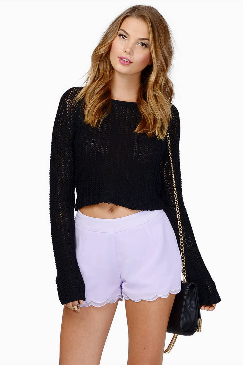 Layered Scallop Shorts