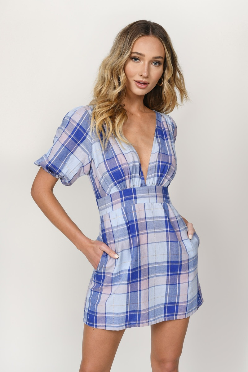 56a5e557f Vivaan Multi Puff Sleeve A-Line Dress - $49   Tobi US