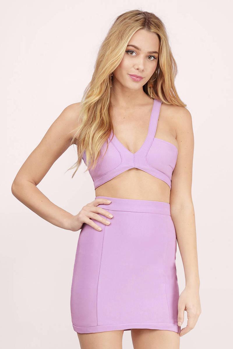 Lavender Bodycon Dress - Purple Dress - 2-Piece Dress - $12.00