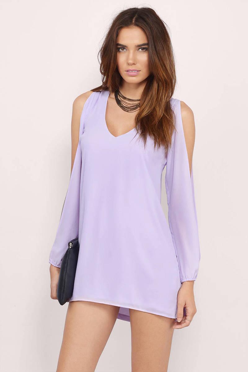 Oatmeal Shift Dress - Beige Dress - Slit Sleeve Dress - $46.00