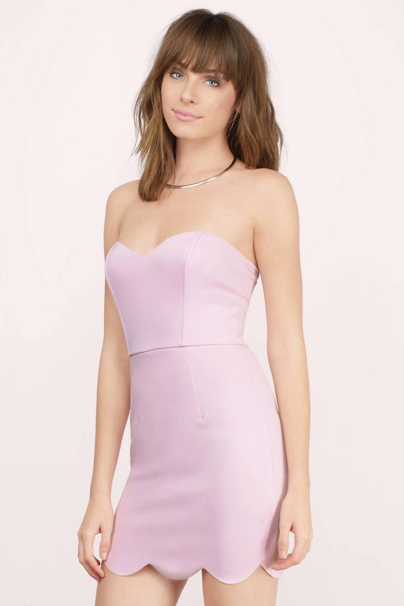 Lavender Shoulder Dress