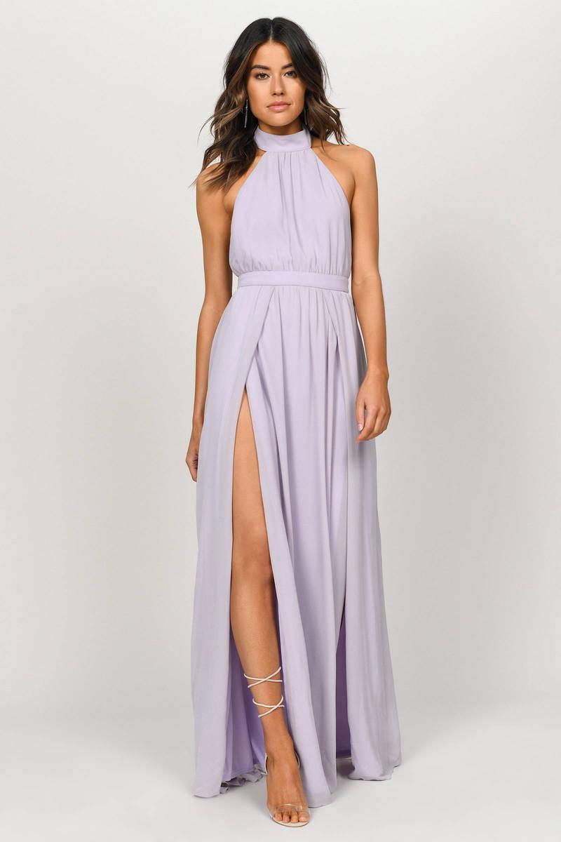 04bd00aba80 Sexy Purple Maxi Dress - Flowy Dress - Purple Backless Maxi Dress ...