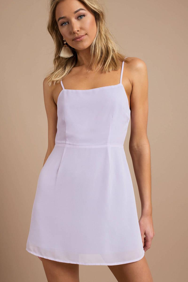 Purple Skater Dress - Going Out Dress - Lavender Spaghetti Strap ... bec7475aa