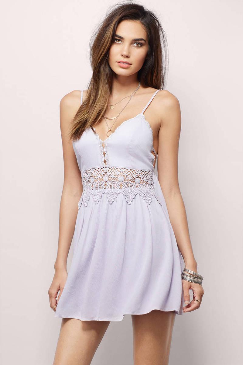 Lavender Skater Dress - Purple Dress - Crochet Dress - Lavender ... 5583457ab